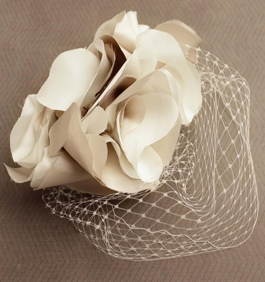 زفاف - Miranda Lambert-inspired Blusher Birdcage Veil
