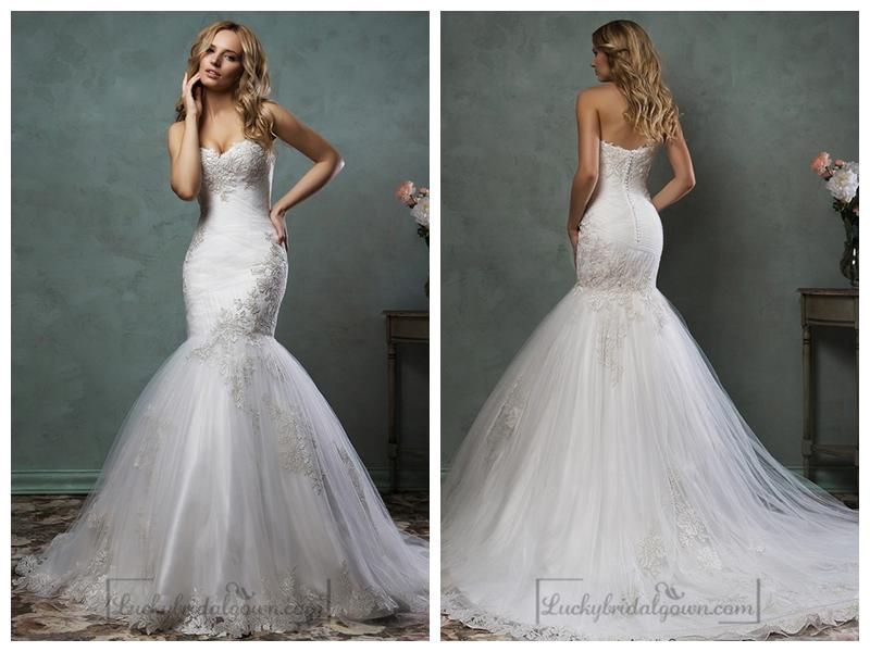 Embroidered Mermaid Wedding Dress