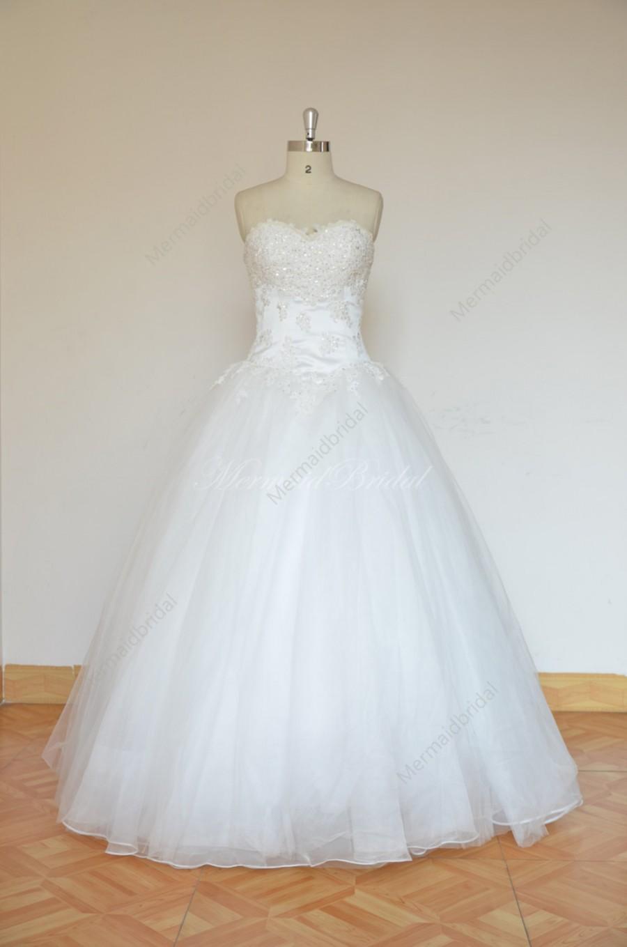 Mariage - Romantic Ivory ball gown wedding dress with elegant beading work