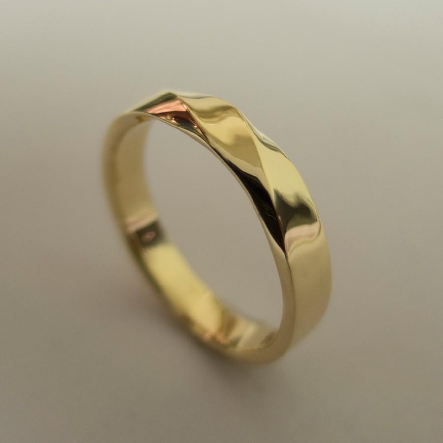 Mariage - Mobius Ring - 14k Gold Ring , Wedding Ring , Gold Wedding Ring , Wedding Band, Twisted wedding band