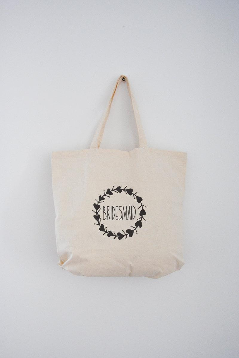 Свадьба - Bridesmaid Gift Tote Bag