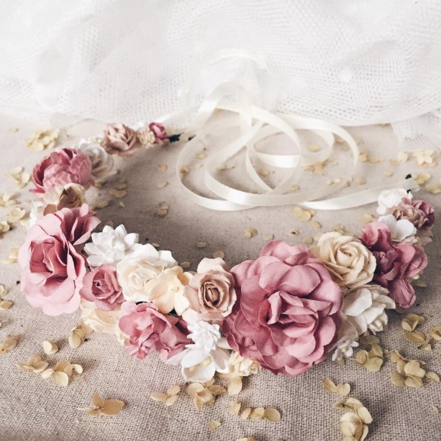Свадьба - Bridal flower crown, Bridal floral crown, Floral wedding crown, Wedding flower heapiece, Wedding flower crown, Boho wedding