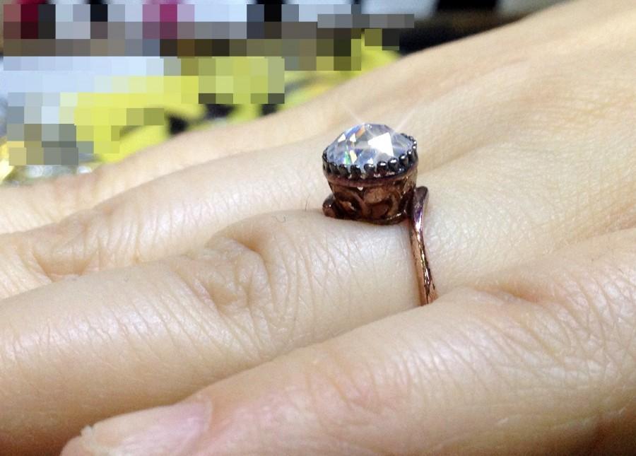 moissanite ring elegant antique engagement ring 925 sterling silver engagement ring antique style engagement ring size 4 small - Size 4 Wedding Rings
