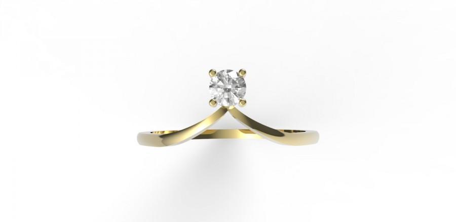 زفاف - Chevron ring, diamond chevron ring, 14K gold with diamond chevron ring, Engagement ring Anniversary ring, diamond engagement ring