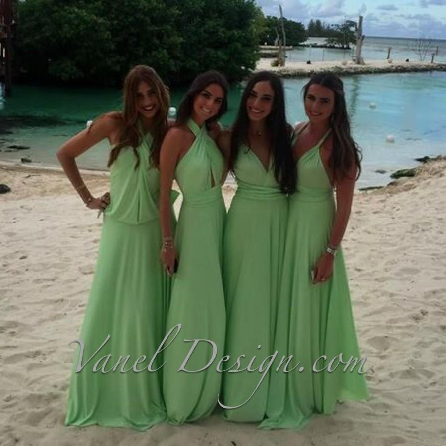 Bridesmaid dress infinity bridesmaids dress green color bridesmaid dress infinity bridesmaids dress green color convertible bridesmaids dressone dress endless styles 50 colors ivory ombrellifo Choice Image