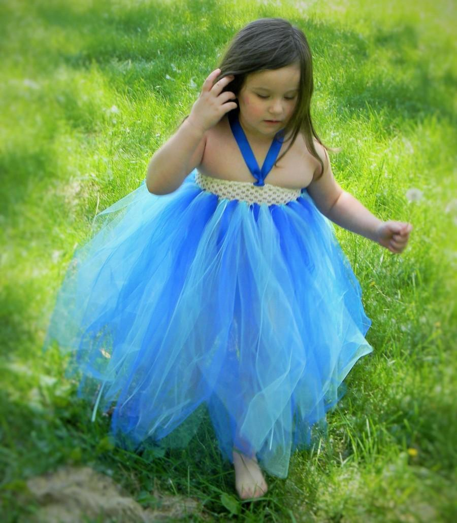 On Sale Blue Flower Girl Dress, Flower Girl Dress, Flower Girl Tutu ...