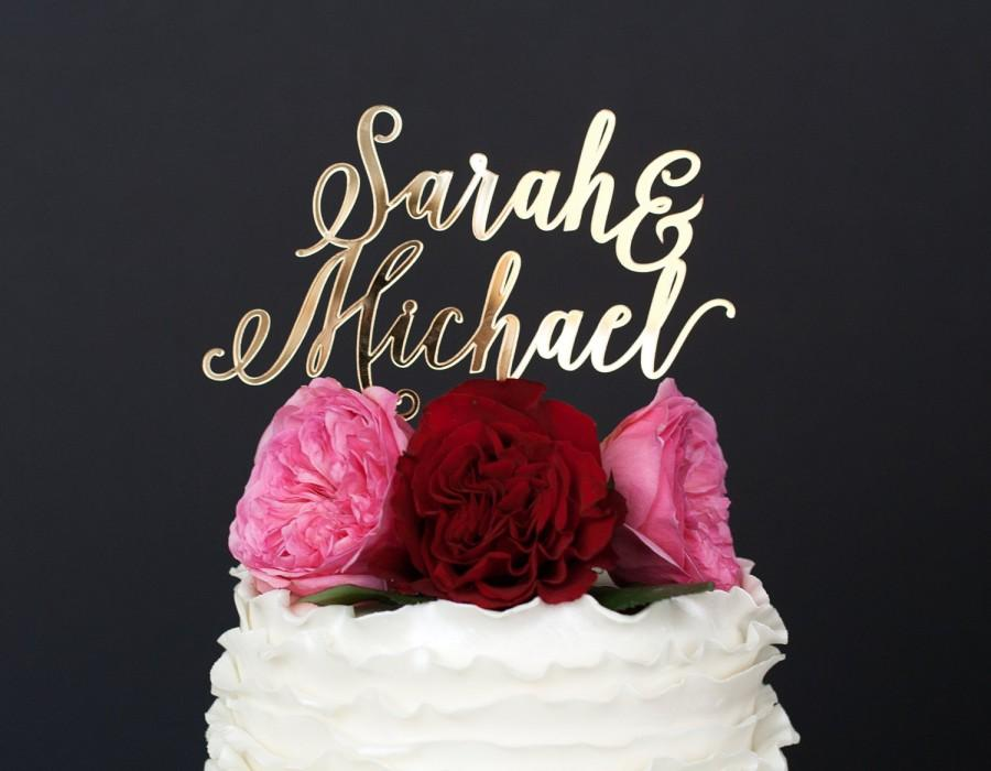 زفاف - Wedding Cake Topper, Custom Cake Topper, Gold Wedding Cake Topper, Personalized Cake Topper