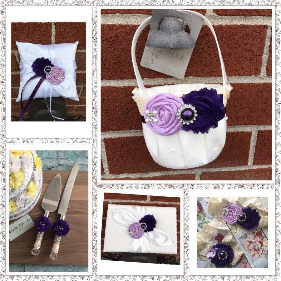 wedding flower girl basket ring bearer pillow wedding guest book wedding garter set cake. Black Bedroom Furniture Sets. Home Design Ideas