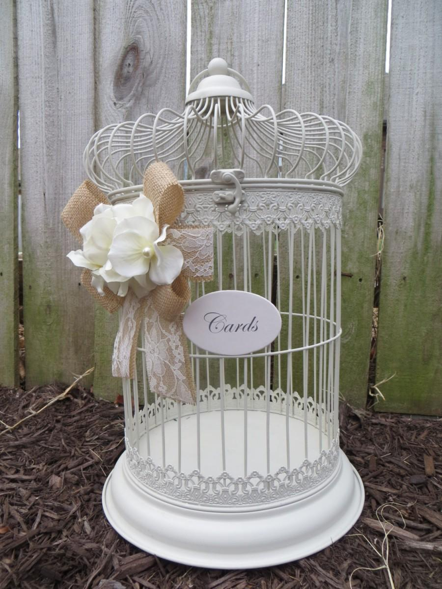 Money Cage >> Pick Your Colors Elegant Wedding Bird Cage Card Holder Wedding
