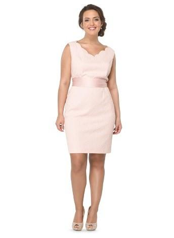 bfd31ea9e5 Tevolio Women s Plus-Size Lace Sleeveless V-Neck Bridesmaid Dress - Peach -  26W