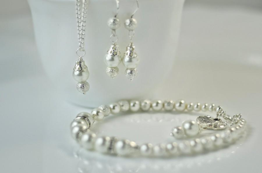 Mother Of The Bride Gift Bridesmaid Pearl Jewelry Set Mom Gifts From Daughter Mothers Bridal
