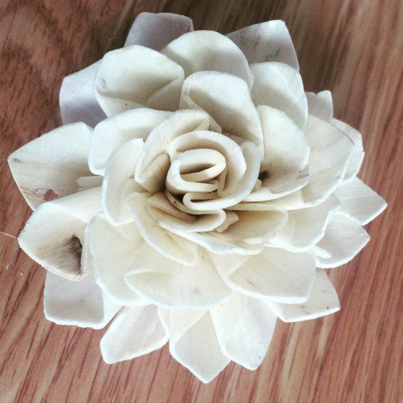 Wedding - Sola Wood Flowers - One Dozen, Dahlia