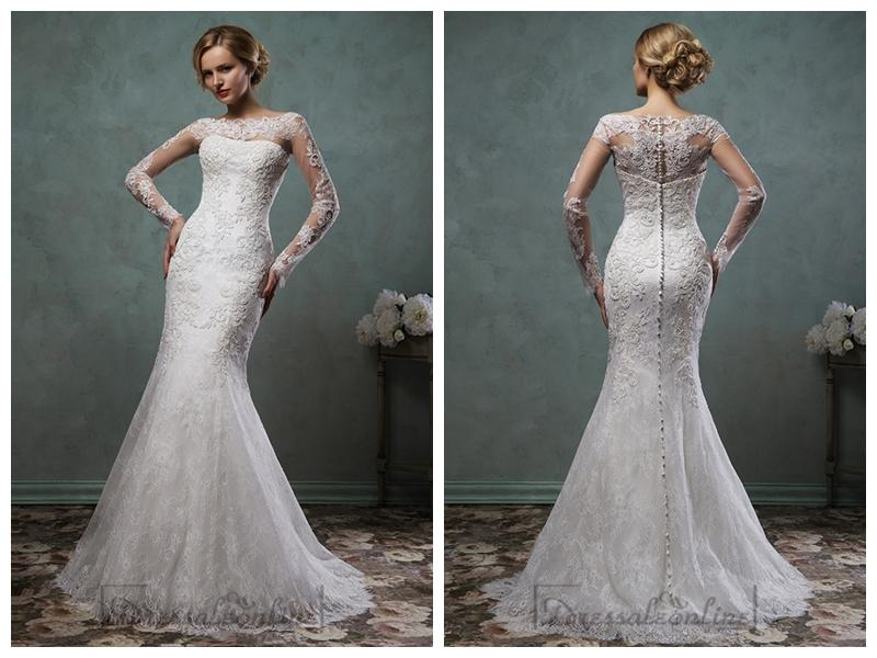 Wedding - Long Sleeves Mermaid Lace Wedding Dresses
