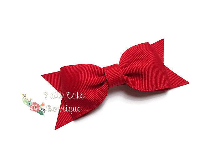 Christmas Hair Bows For Toddlers.Red Hair Bow Red Bow Tuxedo Bow Christmas Hair Bow July