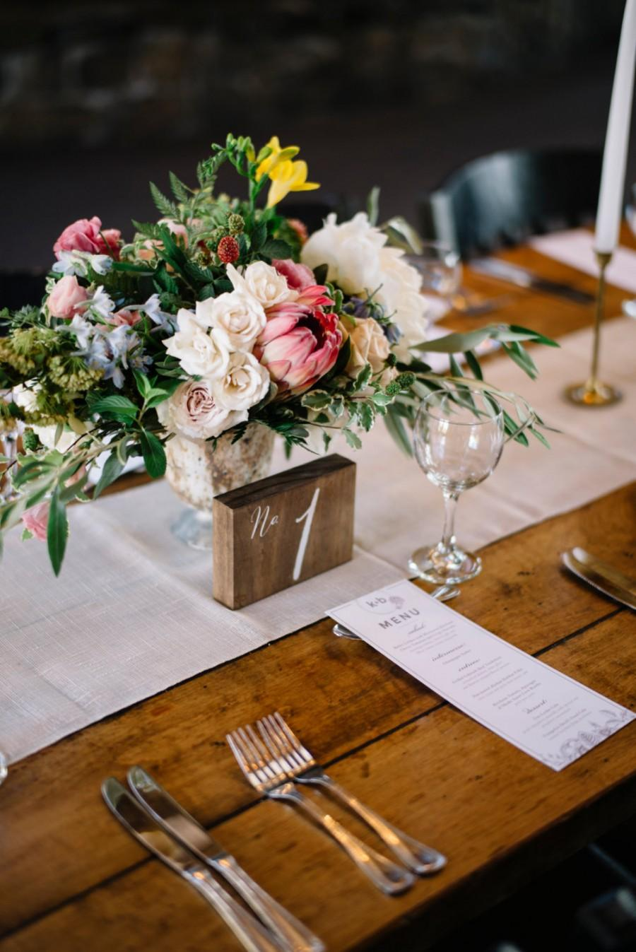 Hochzeit - Wood Block Table Numbers - Wooden Wedding Signs