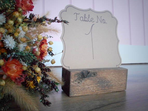 Hochzeit - Rustic Chic Wood Table Number Holders Wedding Table Number Blocks Country Wedding Wood Card Holders Wedding Place Cards Rustic Chic Decor