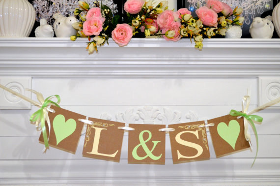 Initials banner custom wedding banner initial engagement party initials banner custom wedding banner initial engagement party sign wedding decoration personalized name banner junglespirit Images