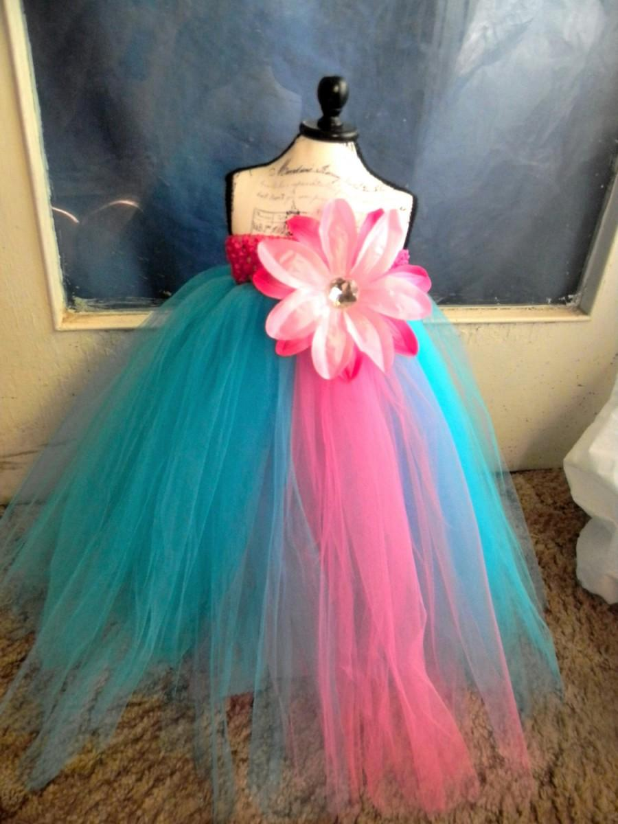 Turquoise Flower Girl Dress Baby Tutu Dress Toddler Turquoise Tutu