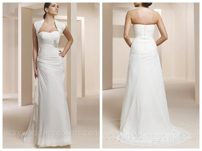 Wedding - Two-piece Sweetheart Strapless Crepe Chiffon Mermaid Bridal Dress