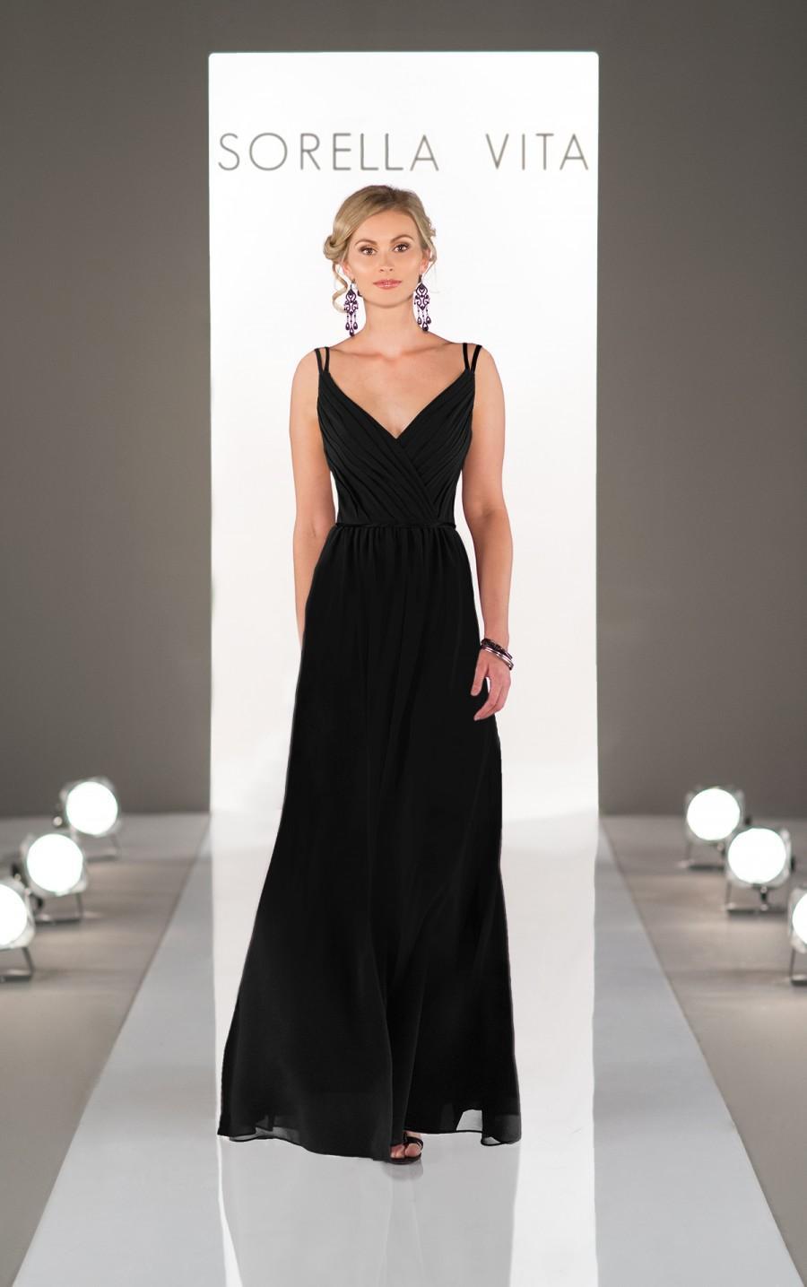 Wedding - Sorella Vita V-Neck Bridesmaid Dress Style 8614