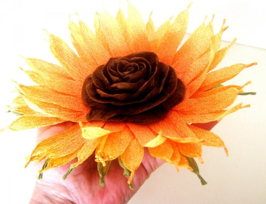 Свадьба - paper Sunflower wedding Wall archTable decor Photo backdrop Rustic wedding Flowers baby shower decoration Centerpiece Wedding Table decor
