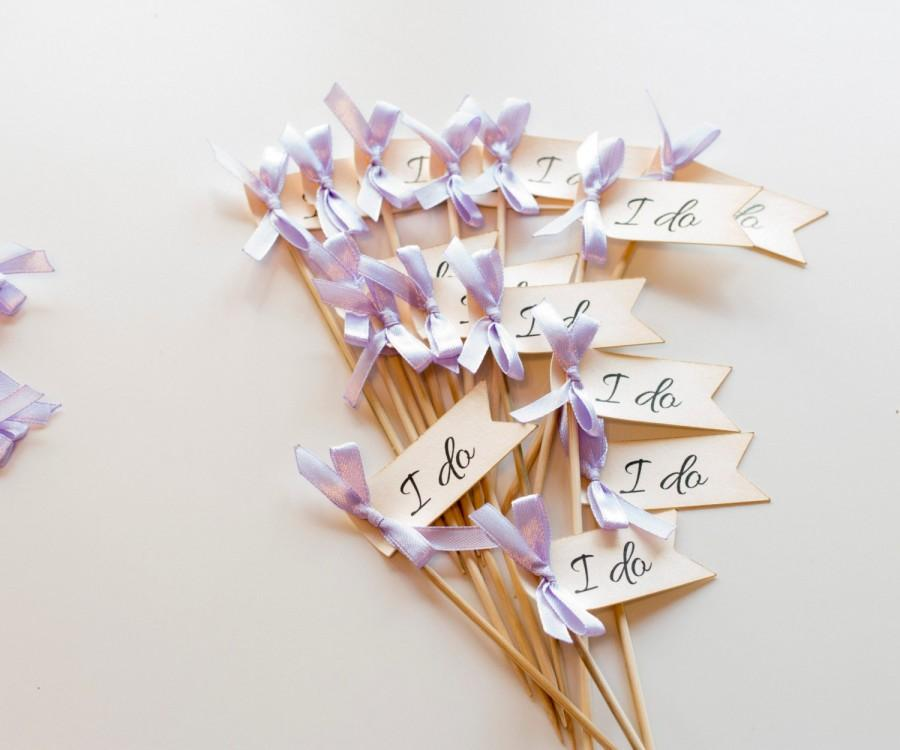 Hochzeit - I do Cupcake Toppers, Wedding Decoration, Bridal Shower Decoration, I do We Do, Wedding Cupcake Toppers (PT17)