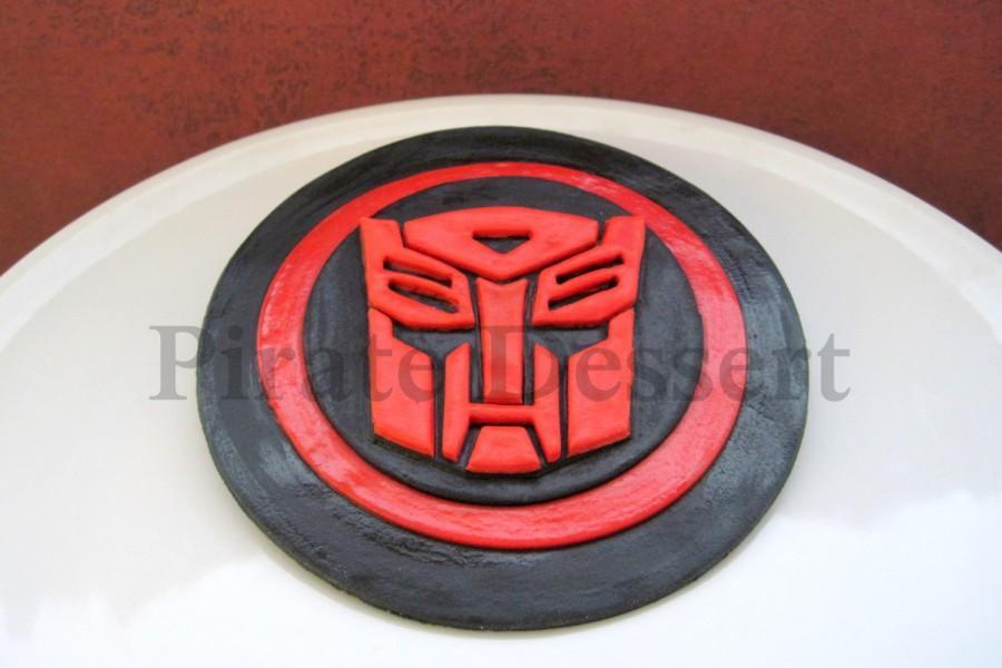 Свадьба - Edible TRANSFORMERS Cake Topper - AUTOBOTS LOGO - Autobots cake Topper -  Optimus Prime - Transformers Cake -  Fondant cake topper (1 piece)