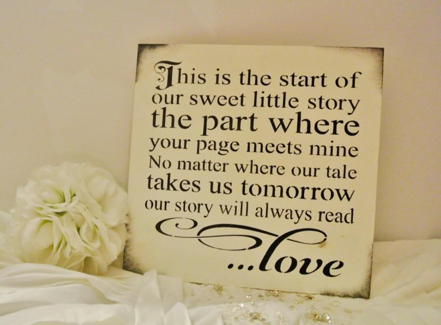 Storybook Wedding Gift : Wedding - Wedding Sign Decor, Anniversary Gift for men, gift, shabby ...