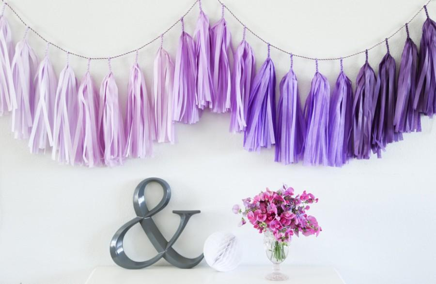 Свадьба - PURPLE OMBRE tassel garland party decoration