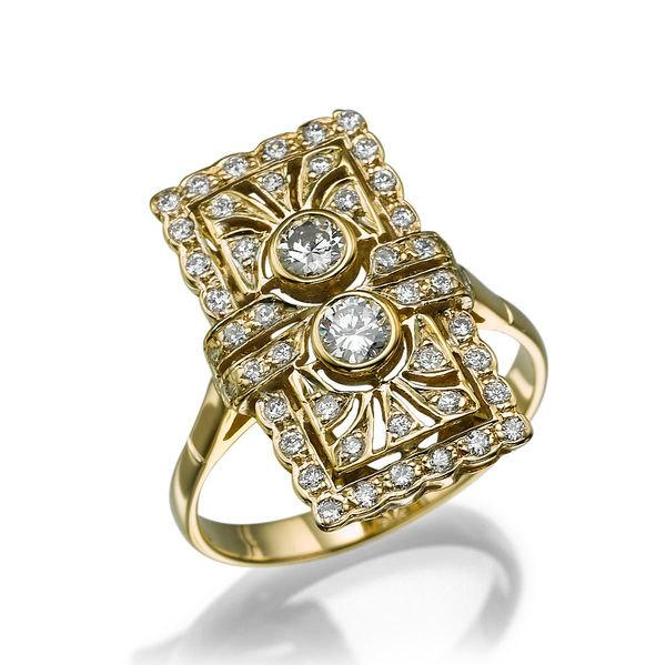 Wedding - Handmade Moissanite Engagement Ring, 14K Gold Ring Solitaire with Accents Promise Ring, 0.82 TCW Forever Brilliant Moissanite