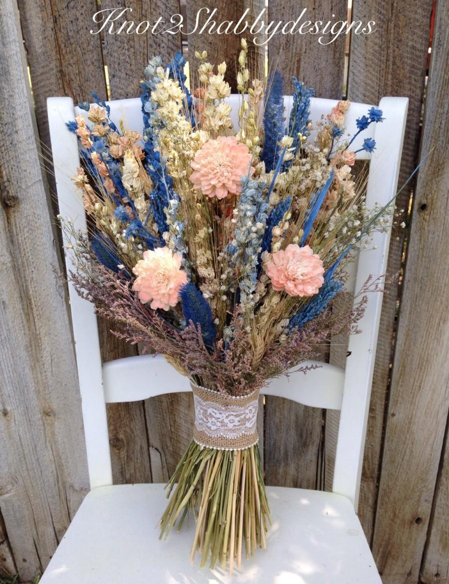 Sola Flower Wildflower - Dried Flower Bouquet - Wedding Flowers ...
