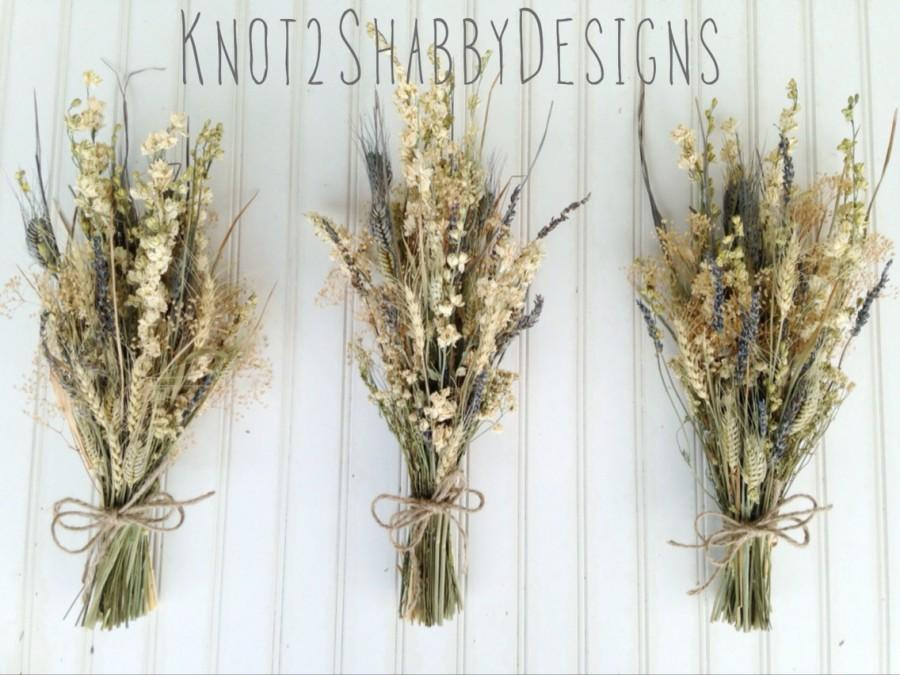 Bridesmaids Bouquets - Dried Bouquets - Wheat Bouquets - Lavender ...