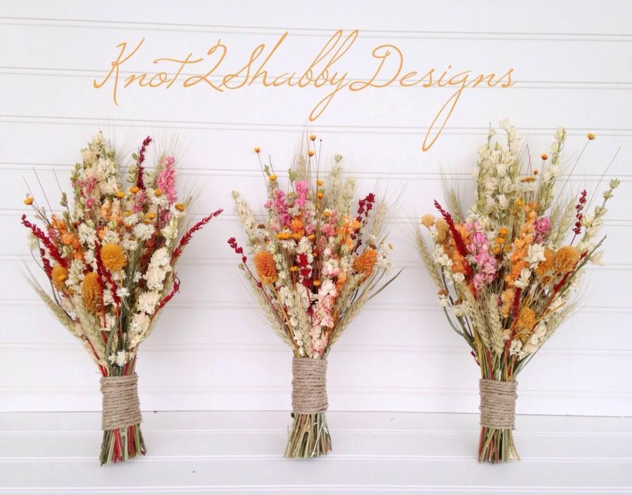 Mariage - Fall dried bridesmaid bouquet