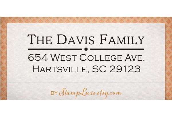 Wedding - Self Inking Address Stamp - Custom Address Stamp - Return Address Stamp (105)