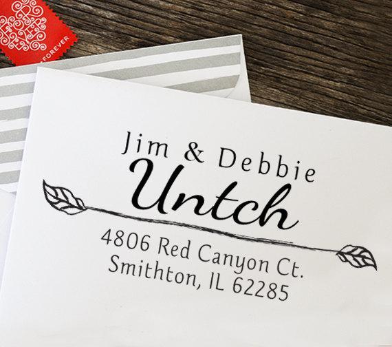 Mariage - Return Address Stamp, Address Stamp, Self Inking Address Stamp, Calligraphy Address Stamp, Wedding Gift - 1000