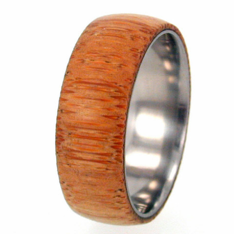 Wedding - Eco-Friendly Bamboo Wood Titanium Ring with my Ring Armor Waterproofing applied, Ring Armor Included