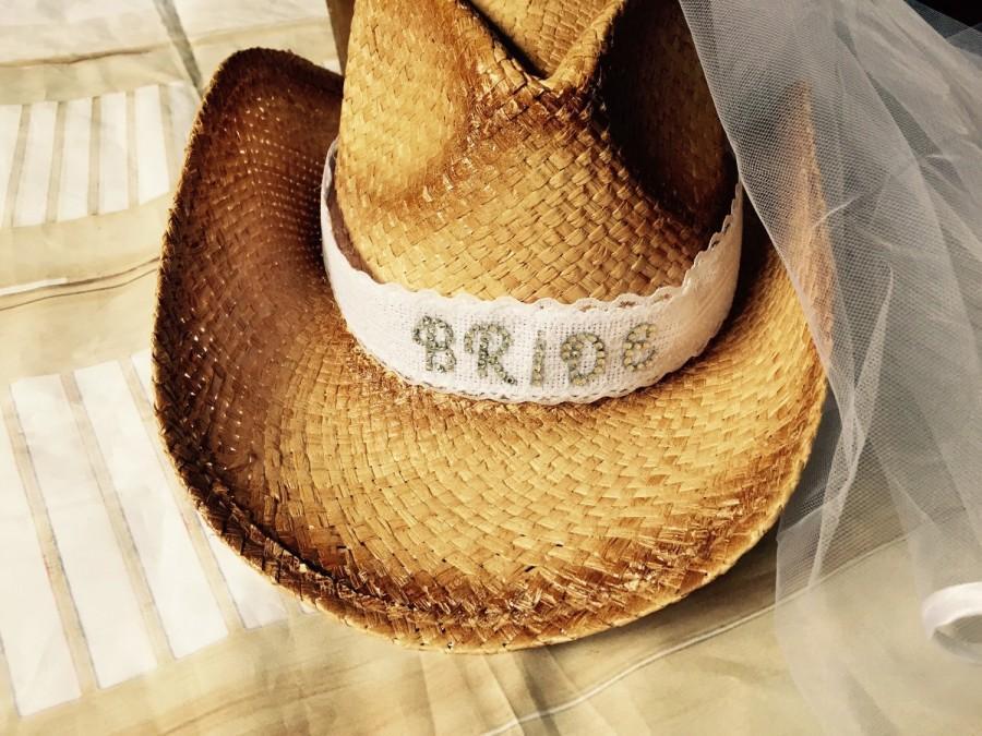 34aec51dbbb98 Western-Cowgirl-Bride-cowboy hat-bride- cowgirl hat-bridal veil-weddings-bachelorette  party-bachlorette-hat-weddings-country weddings