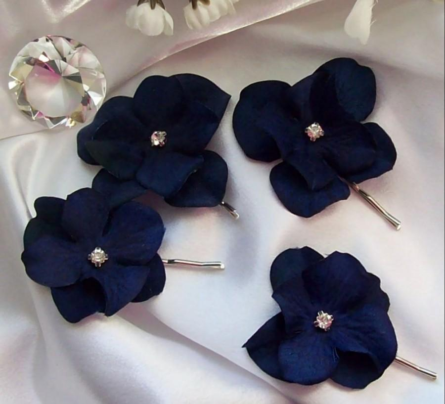زفاف - Wedding,Something Blue,Navy wedding,Bridal Hair Flower,Flower Girl,Wedding,Bridal Accessories,Navy Blue Wedding,Dark Shades of Navy Velvet