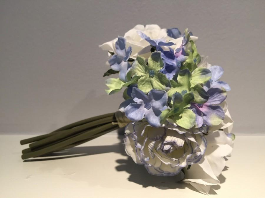 Lavender And White Rose Bouquet Springsummer Mixed Floral Bouquet