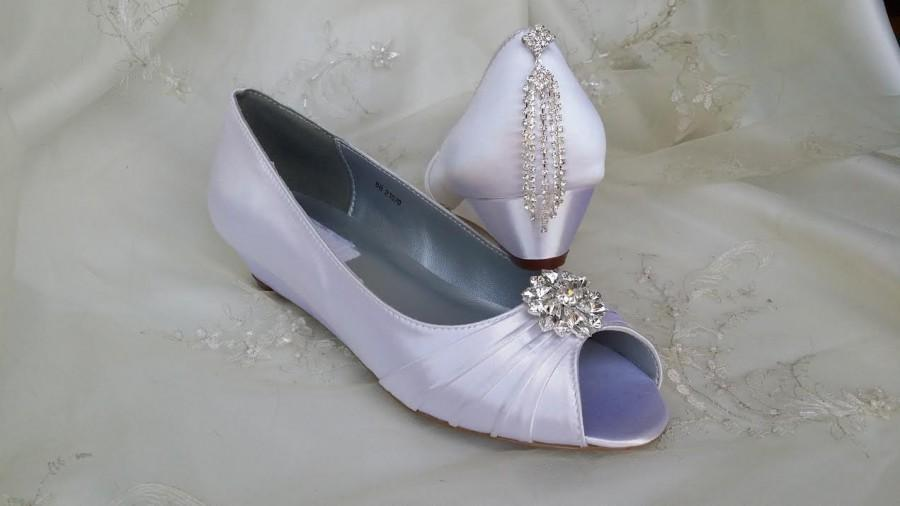 Düğün - Wedding Shoes Wedge Shoes Bridal Bridal Shoes Wedges with Crystal Brooch Dyeable Shoes Pick Your color