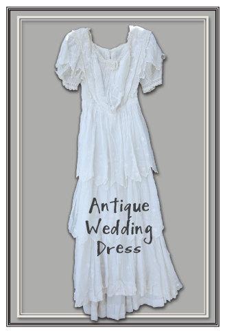 Hochzeit - Antique Lace Wedding Dress