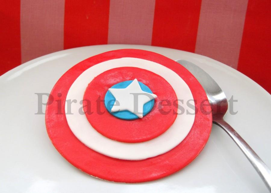 CAPTAIN AMERICA Edible Cake Topper Avengers Edible SUPERHERO