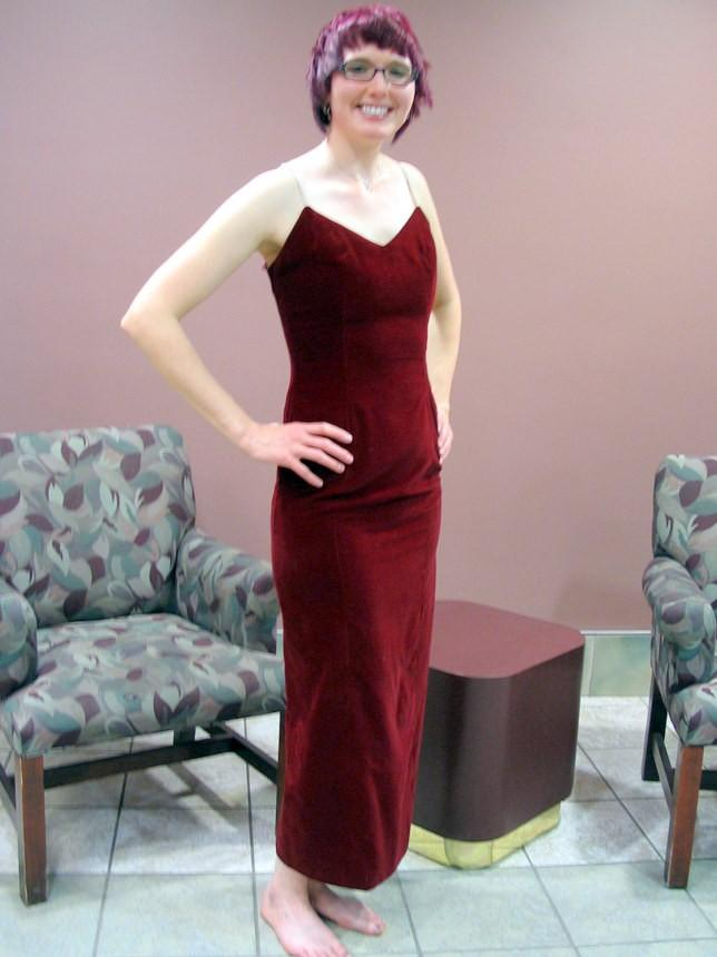Свадьба - Red Velvet Prom Dress with Rhinestone Straps, Modern Size 2 to 4, Extra Small XS