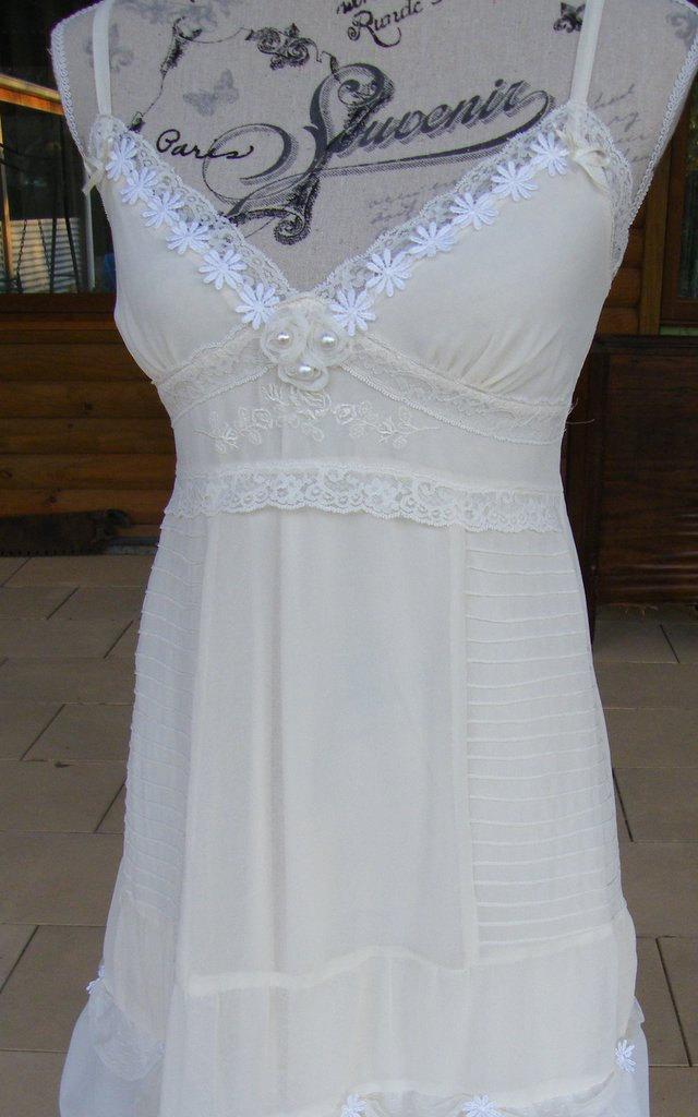 Свадьба - Boho Wedding Dress Beach Wedding Alternative Wedding Dress Upcycled Wedding Dress Woodland Fairy Dress Summer Dress Romantic Hippie Dress