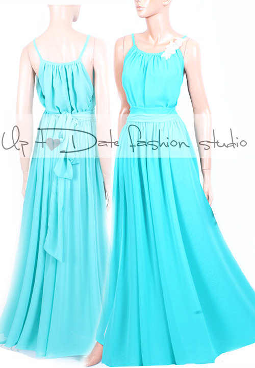 Свадьба - Maxi /mint/ chiffon /bridesmaid/ evening / party/ dress