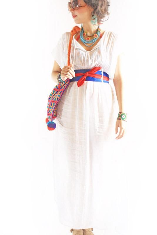 Свадьба - Bohemian Sundress Long maxi dress soft gauze kaftan bohemian chic beach resort white dress