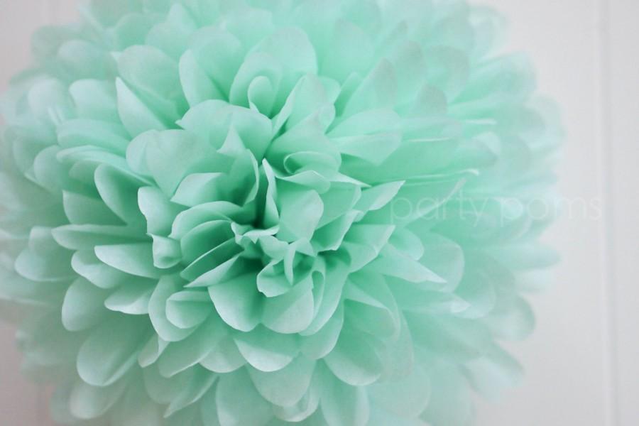 Wedding - Cool Mint Tissue Pom Pom .. Weddings / Birthday / Baby Shower / Baptism / Party Decoration / DIY
