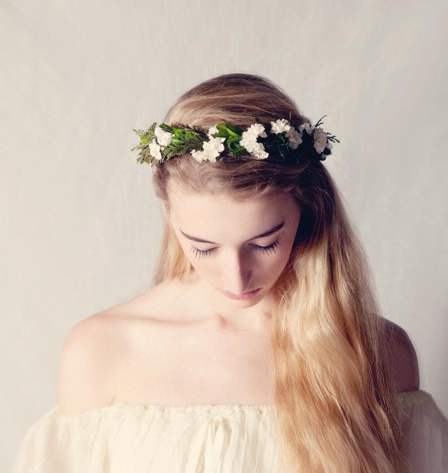 Leafy Woodland Crown Flower Crown Natural Boho Bridal Hair Wreath