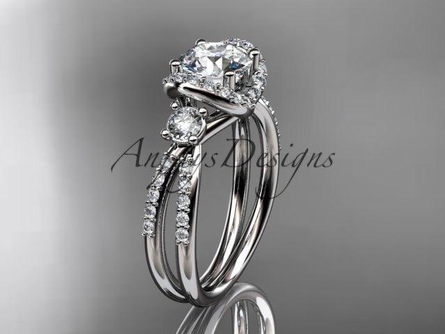 زفاف - platinum diamond unique engagement ring, wedding ring ADER146