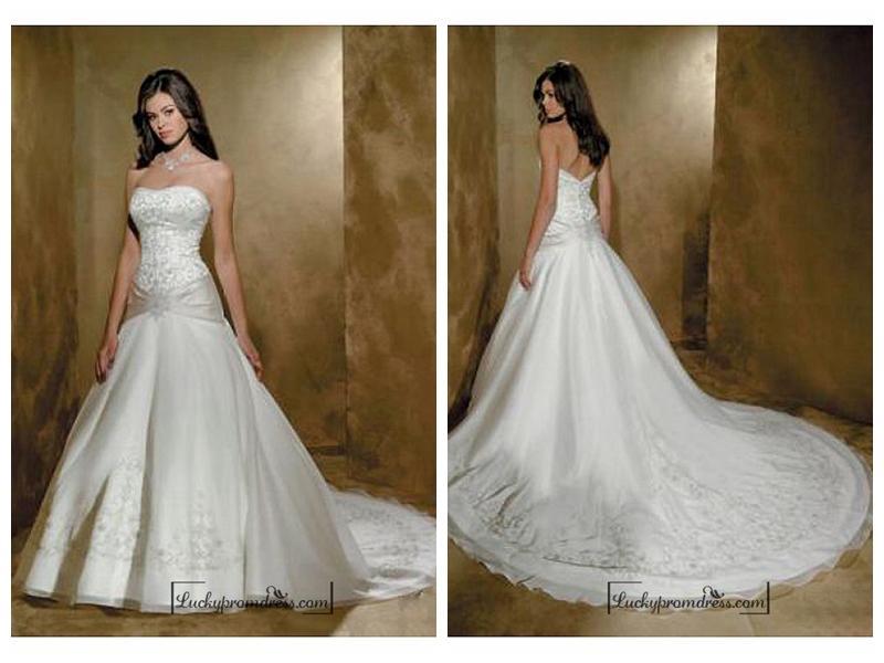 Wedding - Beautiful Exquisite Elegant Wedding Dress In Great Handwork